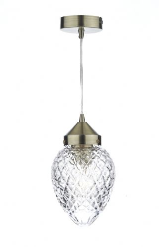 Agatha 1 Light Pendant Antique Brass (Class 2 Double Insulated) BXAGA0175-17